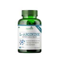 L-Arginine Supplement 500mg - 60 Tablets (1 Bottle)