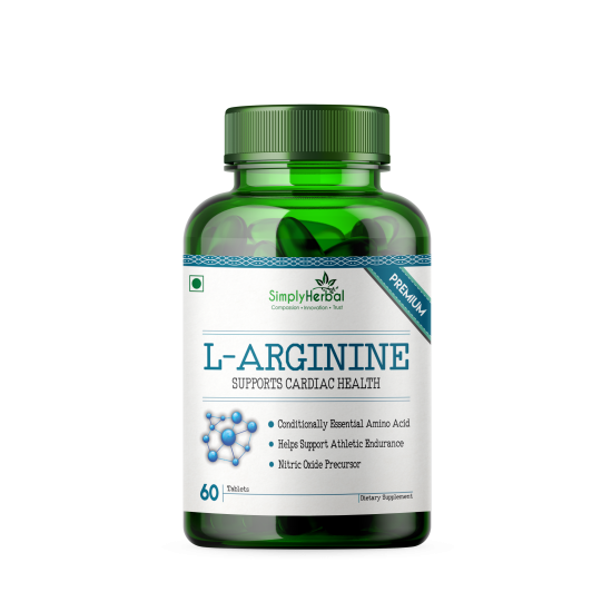 L-Arginine Supplement 500mg - 60 Tablets (1 Bottle)