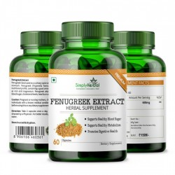 Fenugreek Seed Extract 600mg - 60 Capsules (1 Bottle)