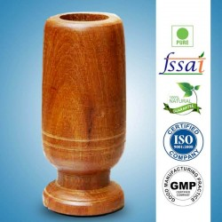 Vijaysar Herbal Wood Tumbler for Diabetes, Reduce Blood Sugar Levels, High Bp and Joint Pains (3 Pack)