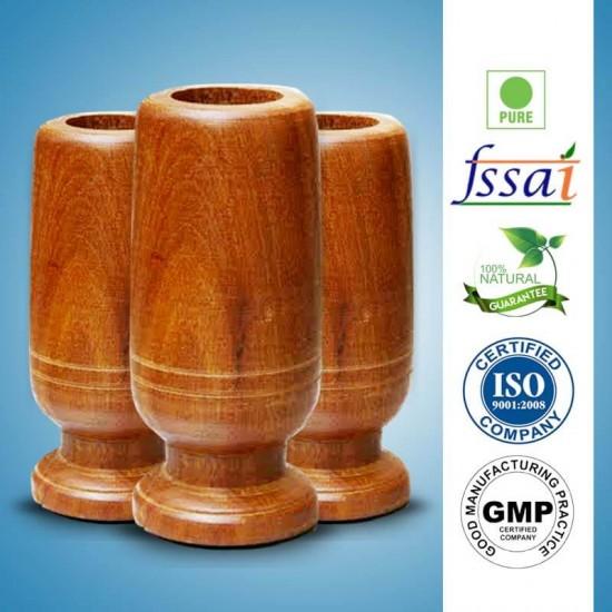 Vijaysar Herbal Wood Tumbler (3 Pack)