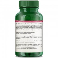 Simply Herbal Silymarin Milk Thistle (Liver Health, Powerful Antioxidant and Remove Toxins) - 420mg - 60 Capsules (1 Bottle)