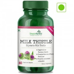 Silymarin Milk Thistle (Liver Health, Powerful Antioxidant and Remove Toxins) - 420mg - 60 Capsules (1 Bottles)