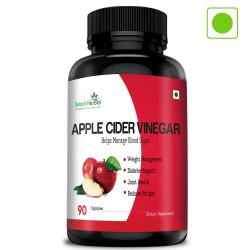 Apple Cider Vinegar (Weight Management, Improve Digestion, Diabetes Support & Reduce Fatigue)- 500mg - 90 Capsules (1 Bottles)
