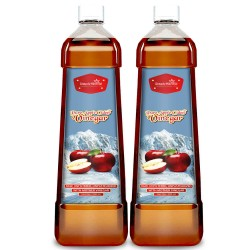 Pure Apple Cider Vinegar With Mother (Weight Control, Blood Sugar, Boosts Metabolism, Digestion & Immunity) 500ml (2 Bottles)