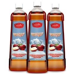 Pure Apple Cider Vinegar With Mother (Weight Control, Blood Sugar, Boosts Metabolism, Digestion & Immunity) 500ml (3 Bottles)