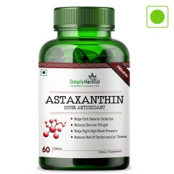 Astaxanthin Super Antioxidant 4mg - 60 Tablets (1 Bottle)
