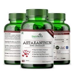 Simply Herbal Premium Astaxanthin Super Antioxidant Supplement - 4mg - 60 Tablets (1 Bottle)