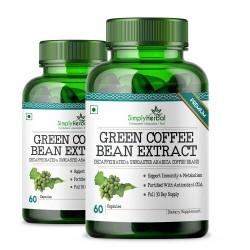 Green Coffee Bean Extract 50% CGA 800mg - 60 Capsules (2 Bottles)