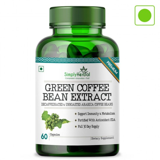 Green Coffee Bean Extract 50% CGA 800mg - 60 Capsules (1 Bottle)