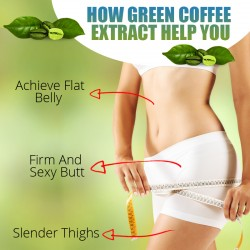 Simply Herbal Green Coffee Bean Extract (Weight Loss, Fat Burn, Appetite Suppressant & Boosts Metabolism) 50% CGA - 800mg - 60 Capsules (4 Bottles)