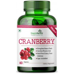 Cranberry + D-Mannose Supplement 800Mg - 60 Capsules