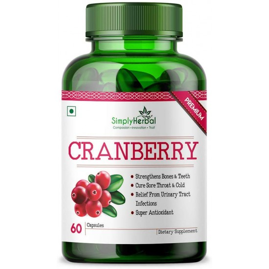 Simply Herbal Cranberry + D-Mannose - 60 Veg Capsules