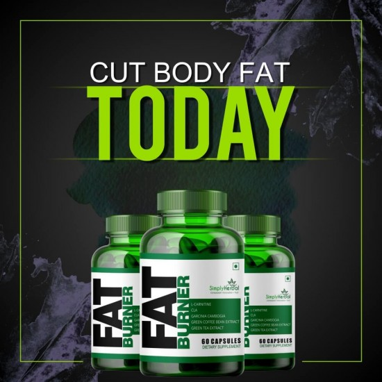 Fat Burner Supplements - (CLA, L-Carnitine, Garcinia Cambogia, Green Coffee & Green Tea Extract) - 60 Capsules 1000mg (1 Bottle)
