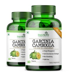 Simply Herbal Premium Garcinia Cambogia (80% HCA With Green Tea & Guggul Extract) Weight Loss & Fat Burn - 800mg - 60 Capsules (2 Bottles)
