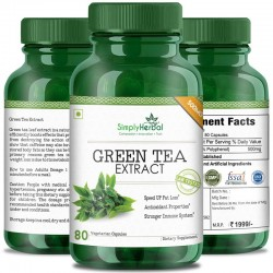 Green Tea Extract Supplements (Healthy Weight Loss, Boost Metabolism & Super Antioxidant ) 500mg - 80 Capsules (2 Bottles)