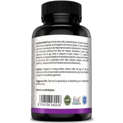 Simply Herbal Glutathione Skin glowing Supplement Capsules - 1000mg - 30 Capsules (1 Bottle)