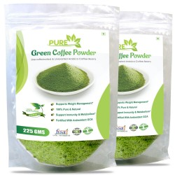Pure Green Coffee Beans Powder 225Gms (2 Pack)