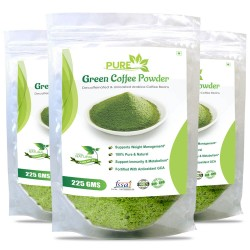Pure Green Coffee Beans Powder 225Gms (3 Pack)