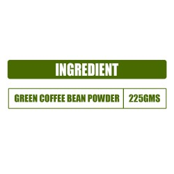 Simply Herbal Pure Green Coffee Beans Powder with Fortified Antioxidant GCA For Best Natural Weight Management - 225gms (1 Pack)