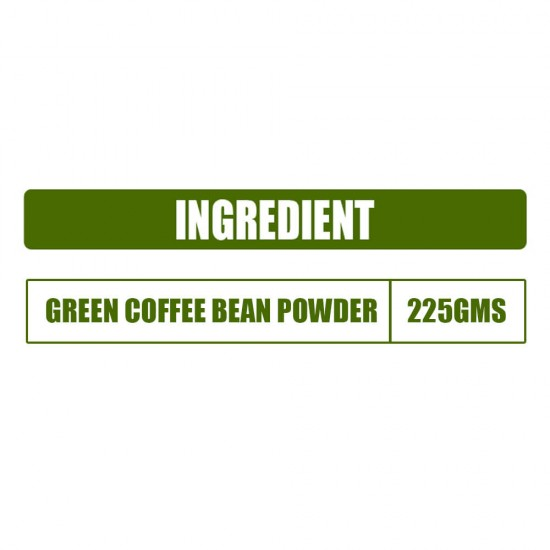 Pure Green Coffee Beans Powder with Fortified Antioxidant GCA (For Best Natural Weight Loss And Belly Fat Burner) - 225gms (1 Pack)