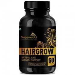 Simplyherbal Hair Grow - With Bhringraj, Hibiscus, Brahmi, Ashwagandha & More