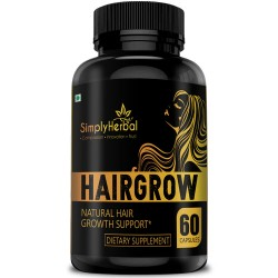 HairGrow - Natural Hair Growth Supplement 800mg - 60 Capsules (1 Bottles)