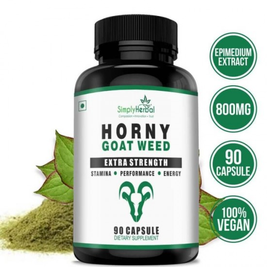 Horny Goat Weed Extract With Epimedium & Maca Root Extract (Stamina, Energy, Performance) - 800mg - 90 Capsules (3 Bottles)