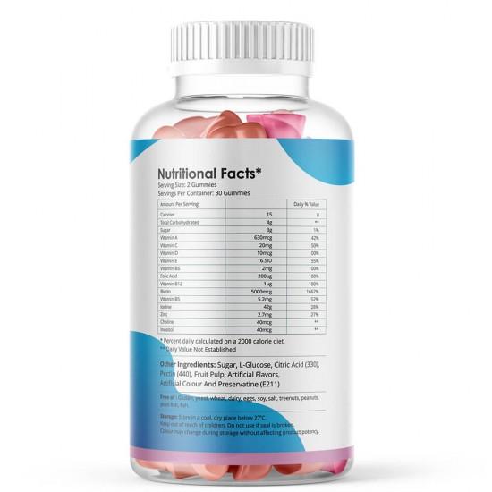 Simply Herbal Hair Vitamin Biotin Gummies with Biotin- 500mg - 30 Gummies (1 Bottle)