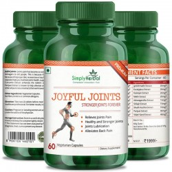 Simply Herbal Joyful Joint Supplements (Relief Joint Pain, Joints Lubrication, Back Pain and Healthy Stronger Joint) - 700mg - 60 Capsules (2 Bottles)