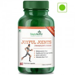 Simply Herbal Joyful Joint Supplements (Relief Joint Pain, Joints Lubrication, Back Pain and Healthy Stronger Joint) - 700mg - 60 Capsules (3 Bottles)