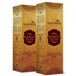 Simply Herbal Kamya Kesh Advanced Herbs Therapeutic Oil (Stops Hair Growth, Regrows Hair & Remove Dandruff Permanently) 100ml (2 Bottles)