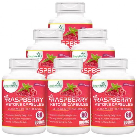 Raspberry Ketone With Green Tea & Garcinia Cambogia (6 Bottles)