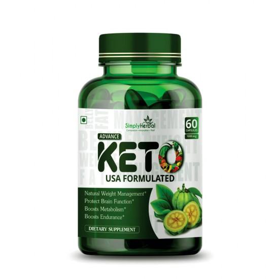 Advance Keto USA Formulated 1000mg - 60 Capsules ( 1 Bottle)