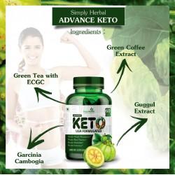 Advance Keto USA Formulated 1000mg - 60 Capsules ( 2 Bottles)