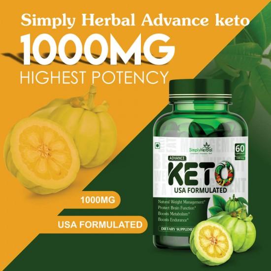 Advance Keto USA Formulated 1000mg - 60 Capsules ( 3 Bottles)