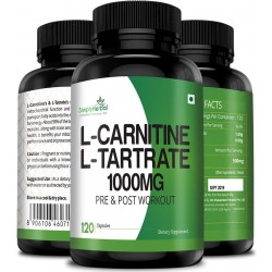 L-Carnitine with L-Tartrate 1000mg - 120 Capsules