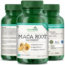 Maca Root Extract For Reproductive Health, Max Strength, Support Fertility (Men & Women) - 800mg - 90 Capsules (1 Bottles)