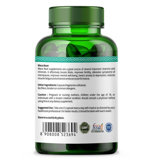 Simply Herbal Maca Root Extract For Reproductive Health, Max Strength, Support Fertility (Men & Women) - 800mg - 90 Capsules (1 Bottle)