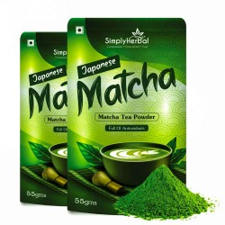 Japanese Matcha Green Tea Powder 55Gm (2 Pack)