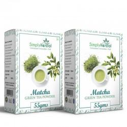 SimplyHerbal Japanese Matcha Green Tea Powder - 55Gm 2 Pack