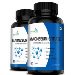Simply Herbal Magnesium Citrate Supplement (Support Nerve, Heart Health, Increase Energy, Strong Bones and Muscle Function) - 330mg - 90 Tablets (2 Bottles)