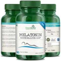 Melatonin (Relaxation & Healthy Sleep Cycle)- 3mg - 90 Tablets  (1 Bottles)