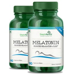 Melatonin (Relaxation & Healthy Sleep Cycle)- 3mg - 90 Tablets (2 Bottles)