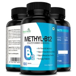 Simply Herbal Methyl B12 (Methylcobalamin) - 1000mcg - 100 Capsules (1 Bottle)