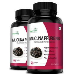 Mucuna Pruriens Extract 500mg - 90 Capsules (2 Bottles)