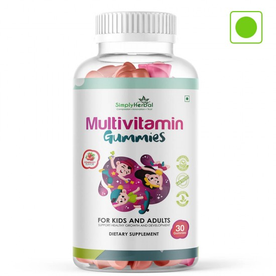Simply Herbal Multivitamin Gummies for Kids and Adults - 30 Gummies (1 Bottle)