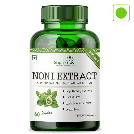 Noni Extract Supplements 500mg - 60 Capsules (1 Bottle)