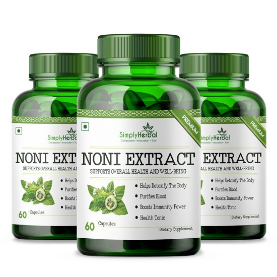Noni Extract Supplements 500mg - 60 Capsules (3 Bottle)