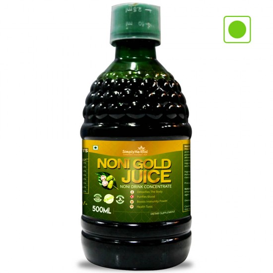Simply Herbal Noni Gold Juice - 500 Ml (Purifies Blood, Detoxify Body, Boosts immunity, Reduces Stress & Joints Health) (3 Bottles)